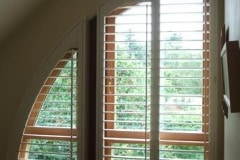 Quarter Round Arched Window Shutters
