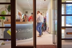 A Packed Showroom for The Scottish Shutter Company Edinburgh Launch