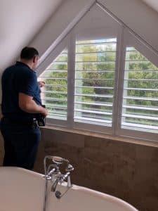 Fitting Shaped Window Shutters - The Scottish Shutter Company
