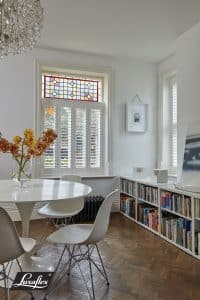 Faux Wood Cafe Style Shutters from The Scottish Shutter Company