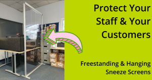 Freestanding & Hanging Sneeze Screens from The Scottish Shutter Company