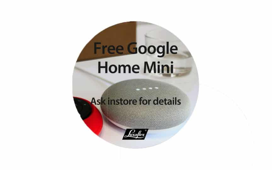 Luxaflex Automated Window Blinds with Google Home Mini from The Scottish Shutter Company