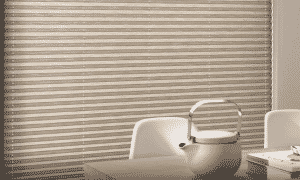Luxaflex Plisse Blind - Unlike a Duette Blind the holes and cords are visible