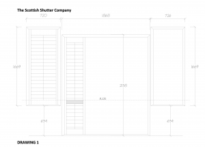 Window Shutter CAD Alignment Detail Drawing from The Scottish Shutter Company