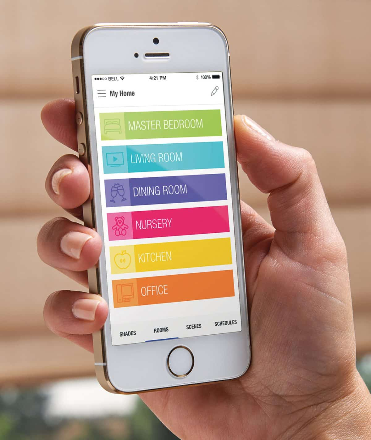 Luxaflex PowerView App For Controlling Duette Blinds from a SmartPhone