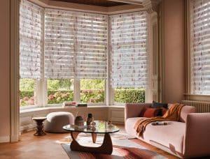 Luxaflex Twist Roller Blinds on a Bay Window